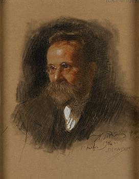 ILJA REPIN, PORTRAIT OF N.A. MOROZOV.