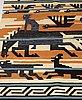 """Märta måås-fjetterström, vävd tapet. """"odins jakt""""/""""odens jakt""""/""""odens jagt"""". rölakan. 120,5 x 213  cm. komponerad av märta måås-fjetterström."""