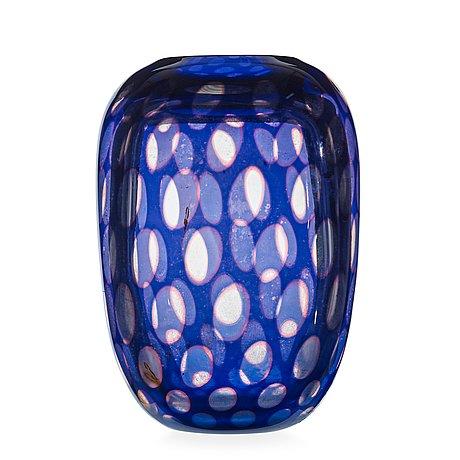 Edward Hald A Slipgraal Glass Vase Orrefors Sweden 1948