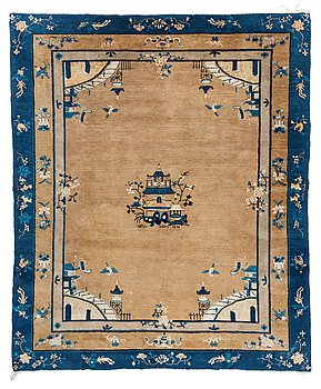 110. A CARPET, a semi-antique Beijing, China, 295,5 x 247,5 cm.