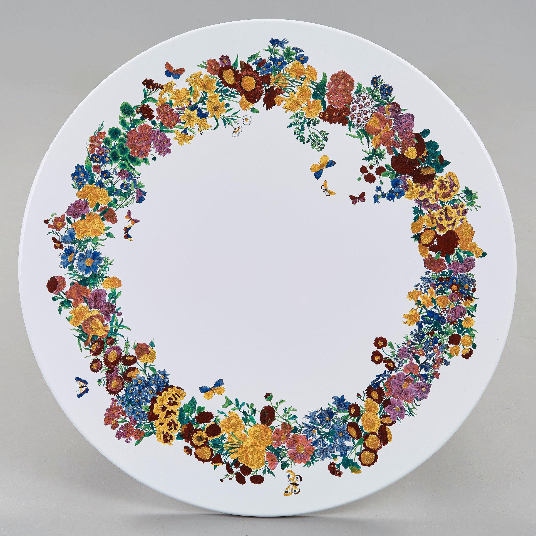 e2446378 Piero Fornasetti, an enameled 'Corona d fiori' garden table, Milan, Italy  and Svenskt Tenn Sweden, 1950-60's. - Bukowskis