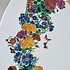 Piero fornasetti, an enameled 'corona d fiori' garden table, milan, italy and svenskt tenn sweden, 1950-60's.