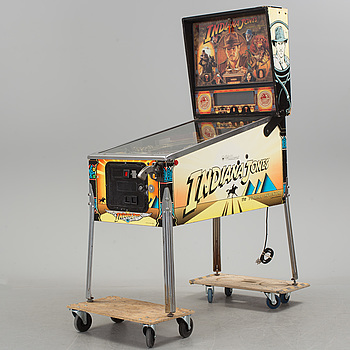 a Indiana Jones pinball-game by Williams USA 1990's.