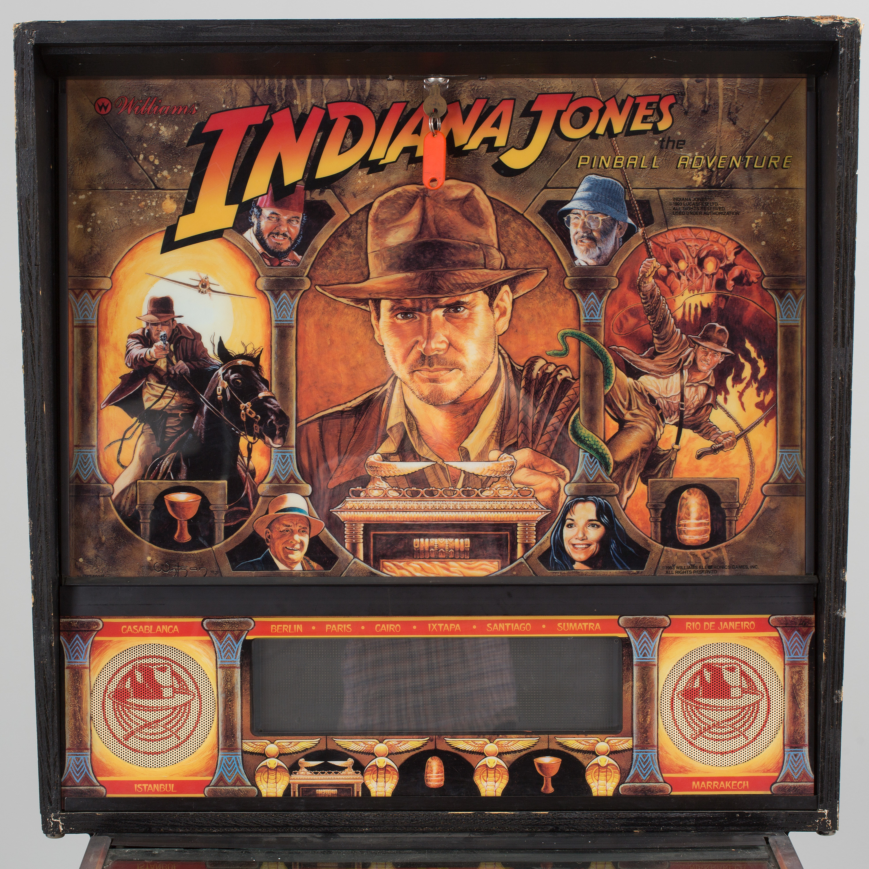 a Indiana Jones pinball-game by Williams USA 1990's  - Bukowskis