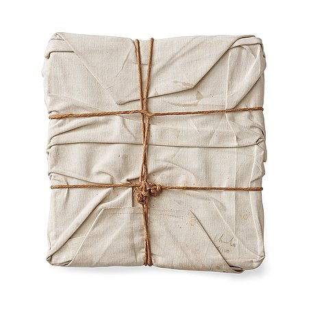 """Christo & jeanne-claude, """"wrapped book""""."""