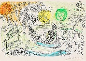 """192. Marc Chagall, """"Le concert"""" ur: """"Derrière le Miroir""""."""