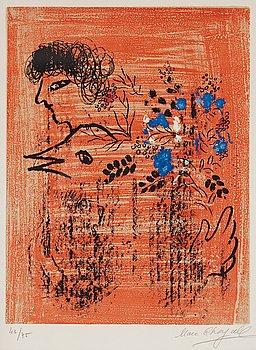 """194. Marc Chagall, """"Bouquet à l'oiseau""""."""