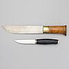 Two finnish 20h century knives, including a fiskars puukko-knife.
