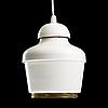 Alvar aalto, a pendant lamp a 330. golden bell.