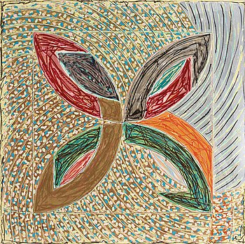 "9. FRANK STELLA, ""Polar-Co-ordinates, VII"" (for Ronnie Peterson)."