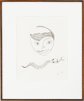 ROGER RISBERG, tusch på papper, monogramsignerad, 2000.