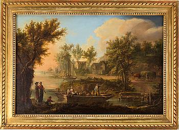 JOHAN PHILIP KORN, JOHAN PHILIP KORN, oil on canvas, indistinctly signed J? P.K. and dated 1786.