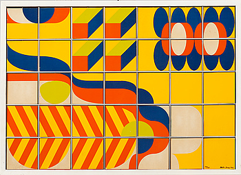 BECK & JUNG, multipel, screenprint, signed, dated and numbered 1972 54/125.