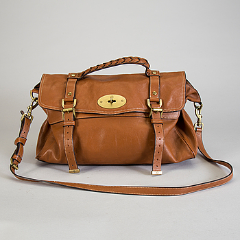 "MULBERRY, A brown leather hand bag ""Alexa"" by Mulberry."