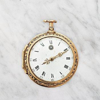109. JOSUA WILSON (1688-1733), London, pocket watch, 51 mm, quarter repeating,
