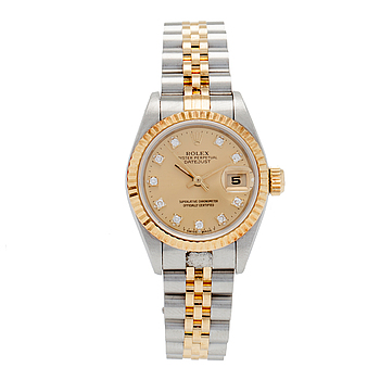 ROLEX, Oyster Perpetual Datejust, Chronometer, armbandsur, 26 mm,