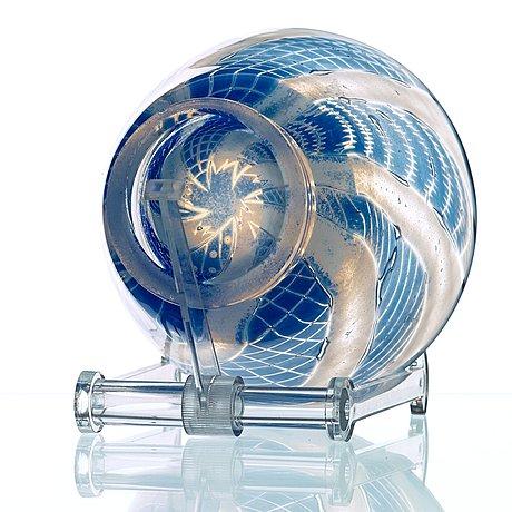 Edward hald, a 'slipgraal' glass bowl, orrefors 1948.
