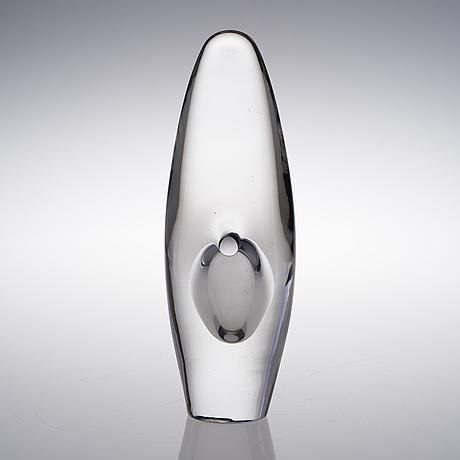 Timo sarpaneva, a glass sculpture. orchid. signed timo sarpaneva -54.