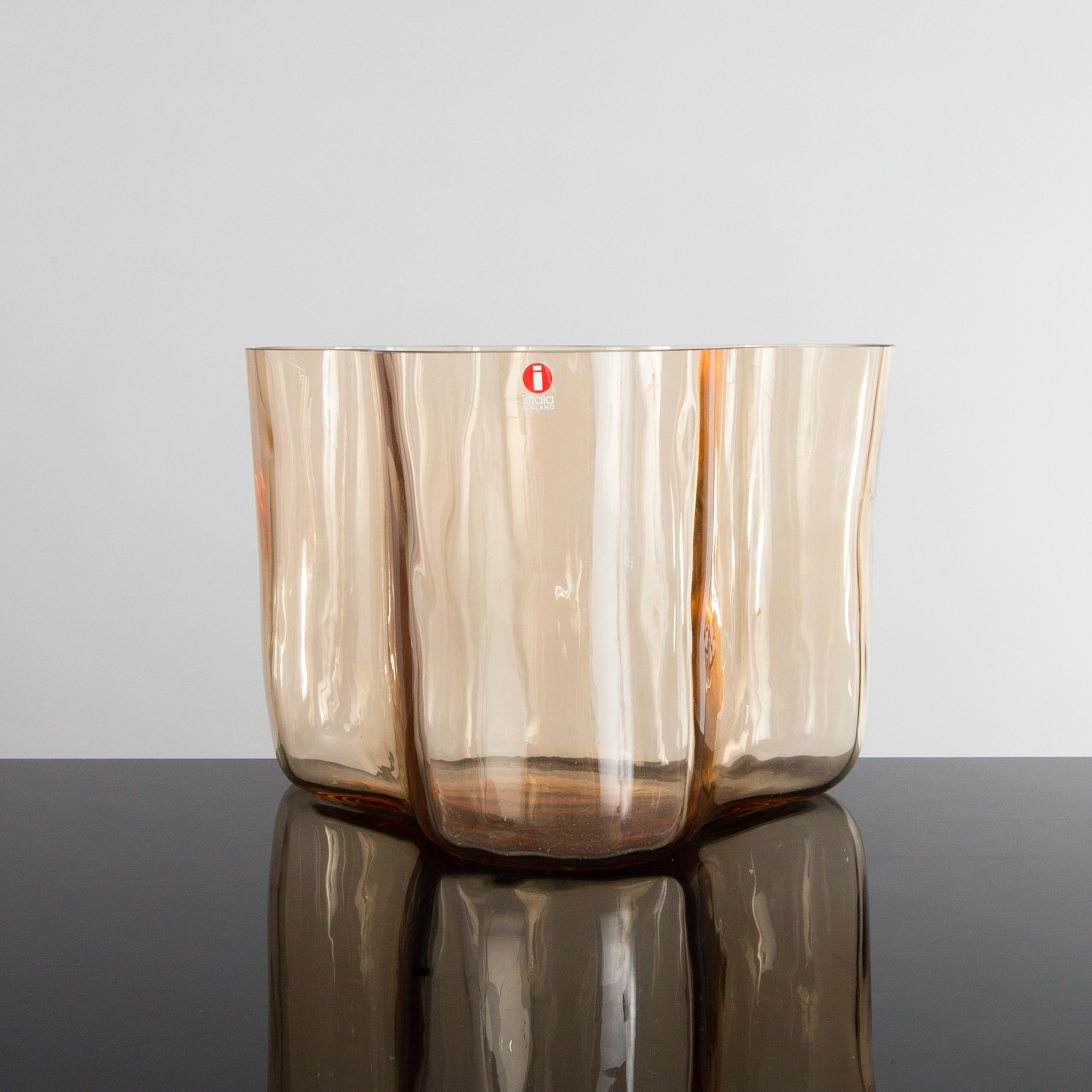 Alvar aalto an amber glass vase savoy 3030 by alvar aalto for 9952077 bukobject reviewsmspy