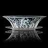 Simon gate, an engraved glass bowl with stand, orrefors 1927.
