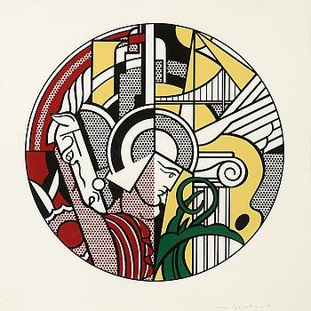 """10. Roy Lichtenstein, """"The Solomon R. Guggenheim Museum Poster""""."""