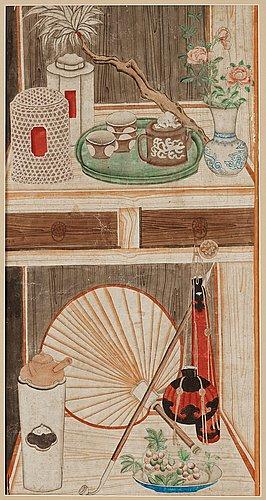 Målning, qingdynastin, 1700-tal.
