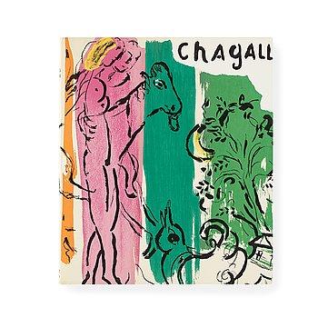 "196. MARC CHAGALL, Bok med 15 litografier ""Chagall"". Jacques Lassaigne."
