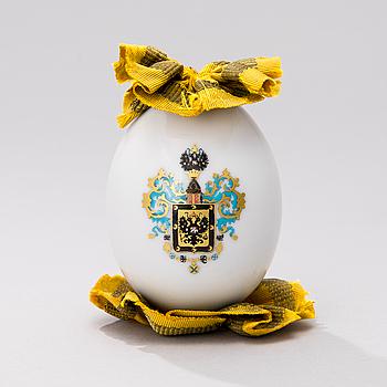 EASTERN EGG, porcelain, St.Petersburg, Imperial porcelain factory ca 1900.