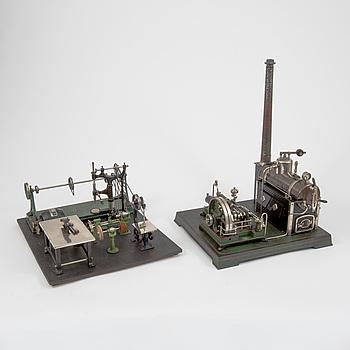 A Doll & Cie steam engine Germany 1930s.
