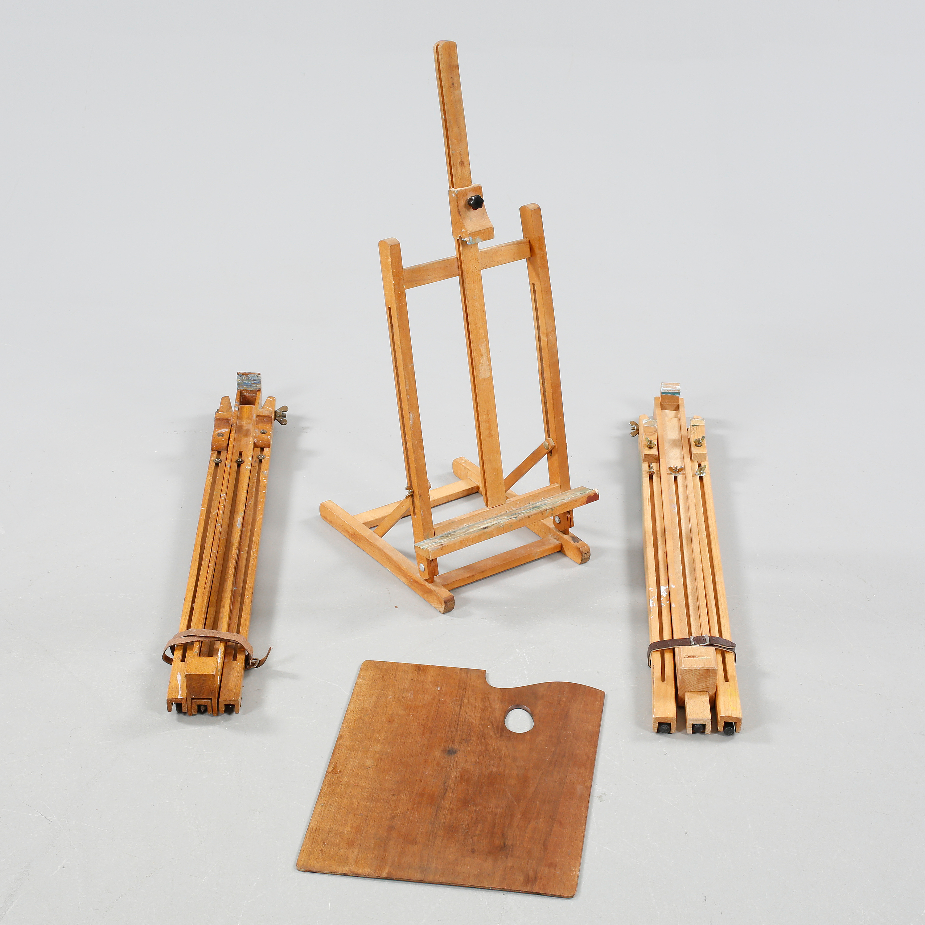 Two field easels and one table easel, made in the second