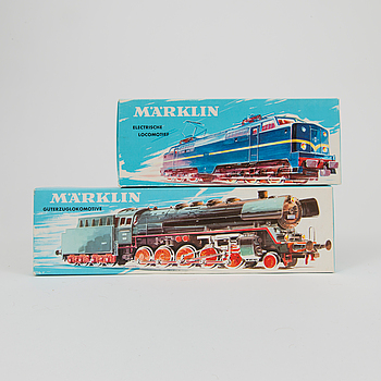 Two Märklin H0 locomotives Germany 1960s.
