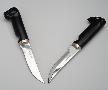 Bertel gardberg, jaktknivar, 2 st. Örn och säl. tillverkare fiskars