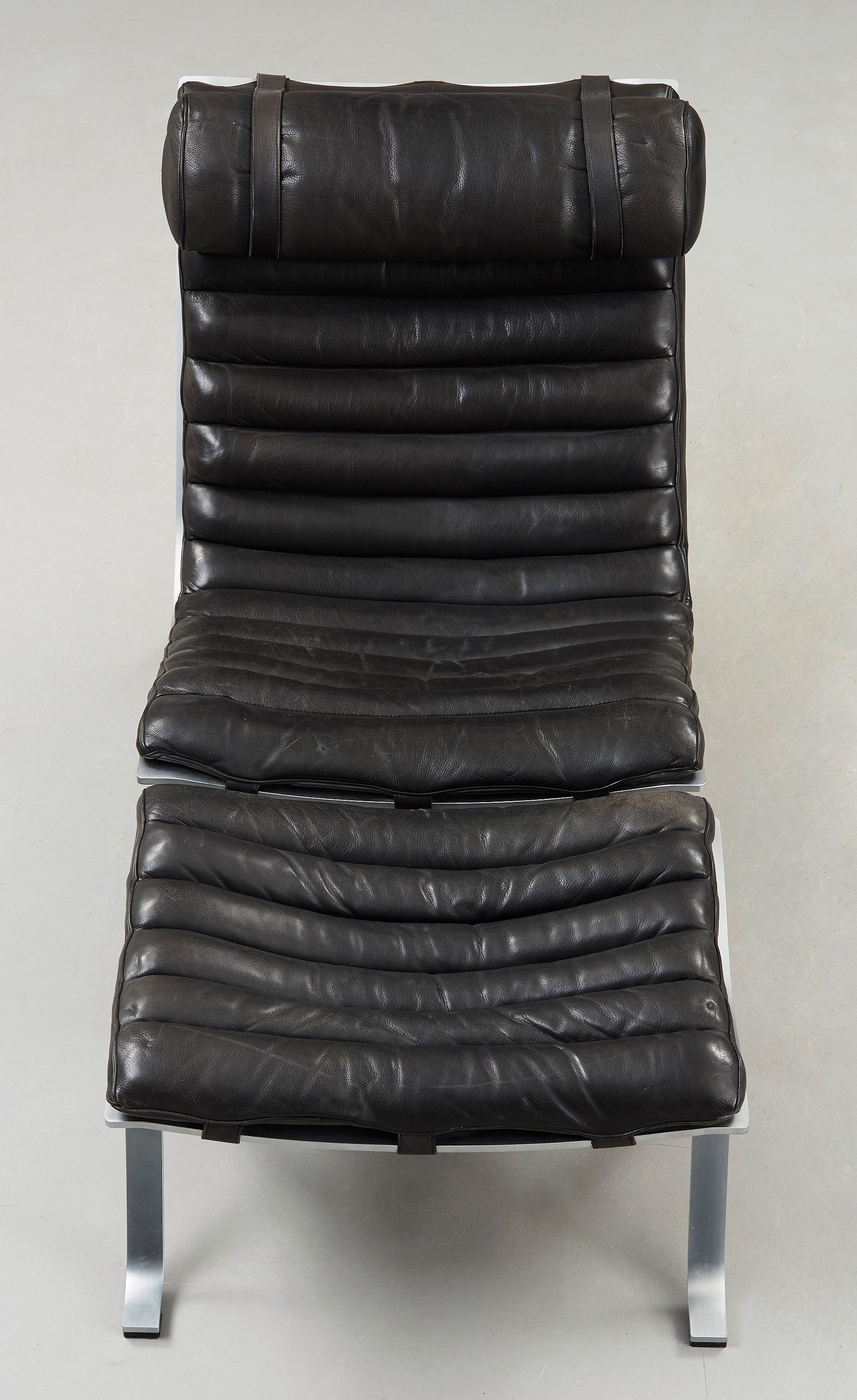 Wondrous Arne Norell An Ari Steel And Black Leather Lounge Chair Gmtry Best Dining Table And Chair Ideas Images Gmtryco