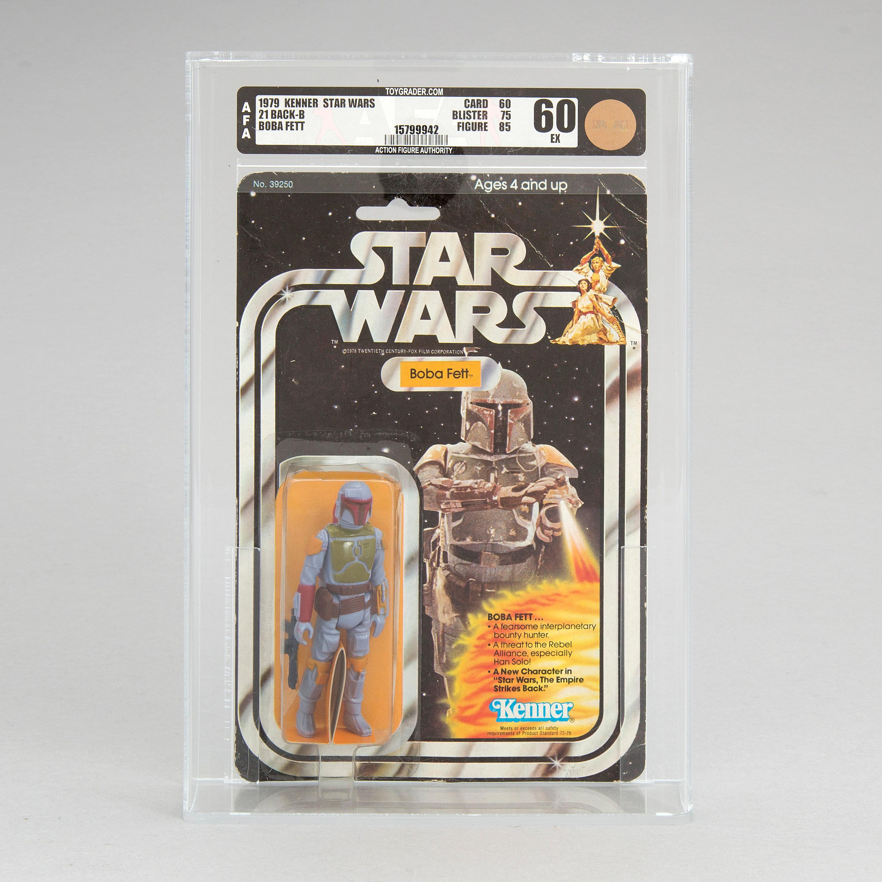 A Vintage Star Wars Boba Fett 21back B AFA60 EX Kenner 1979