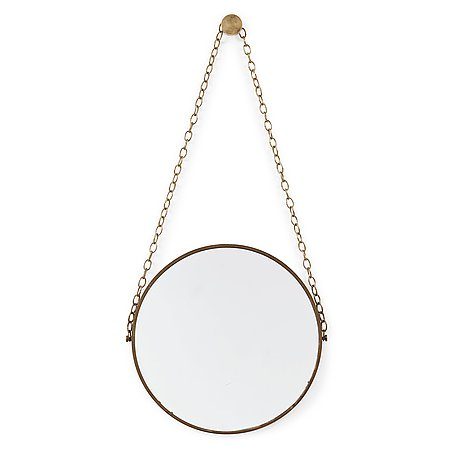 A mid 20th century brass mirror, 1950-60's.