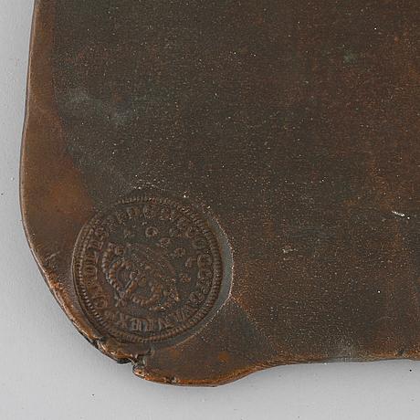 Kopia av plÅtmynt, 8 daler silvermynt, 1900-tal.