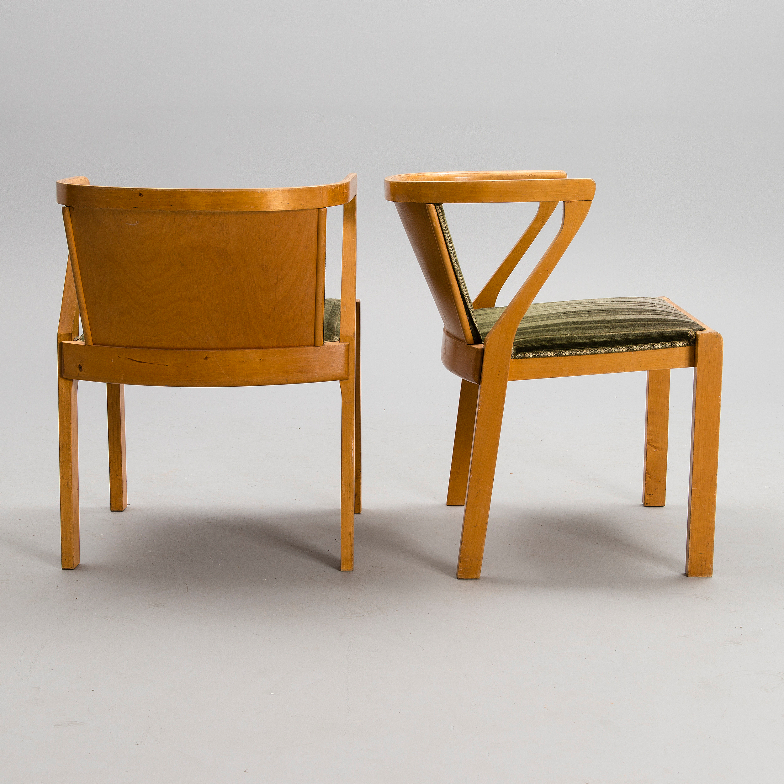 ALVAR AALTO, A PAIR OF ARMCHAIRS, model 2, Artek, mid 20th ...