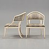 A matched pair of late gustavian armchairs by ephraim ståhl, master 1794).