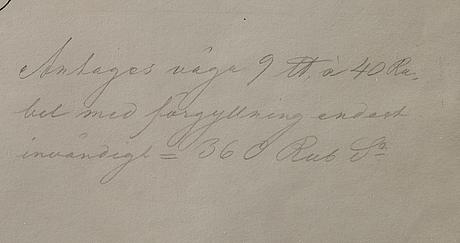 Ritningar till silverfÖremÅl, teckning 1800 talets början