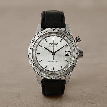 34. SEIKO, Diashock, kronograf, armbandsur, 37,5 mm,