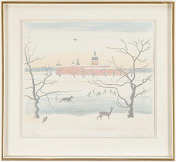 EINAR JOLIN, EINAR JOLIN, Lithograph in colour, signed 183/250.