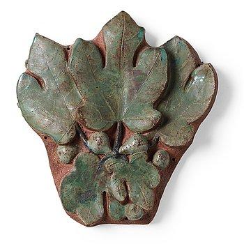 221. Tyra Lundgren, a stoneware relief, Sweden 1950's.