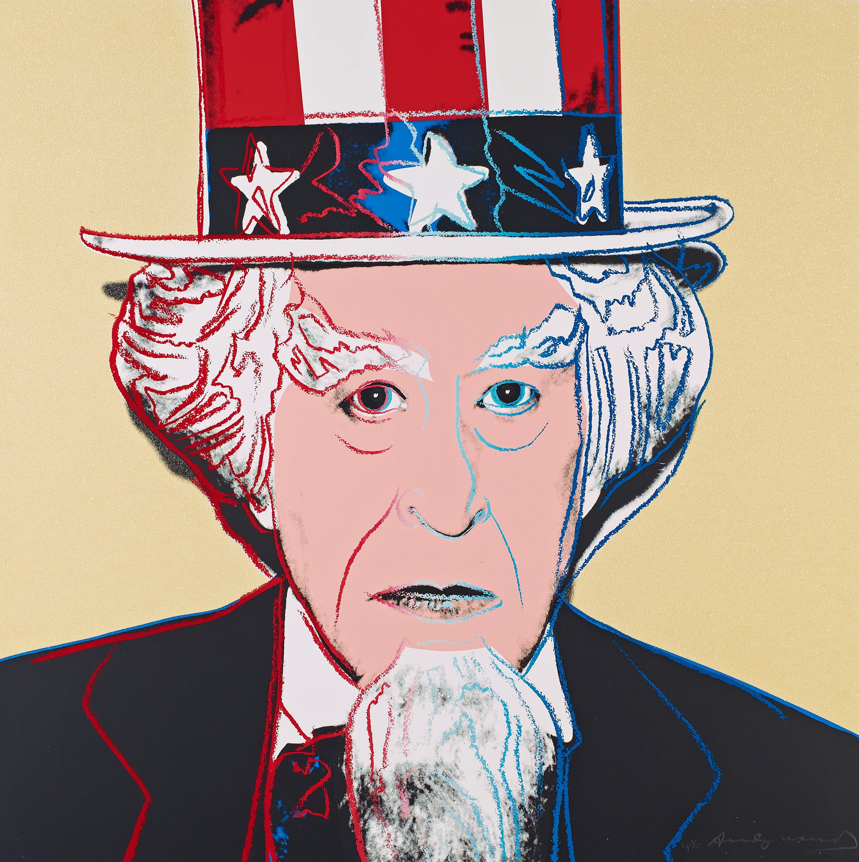 andy warhol uncle sam from myths bukowskis