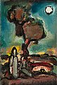 GEORGES ROUAULT, Nocturne. Oil on paper glu...
