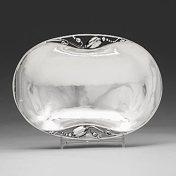 """1. GEORG JENSEN, skål """"Magnolia/Blossom"""", Köpenhamn 1919, 830/1000 silver, design nr 2,"""