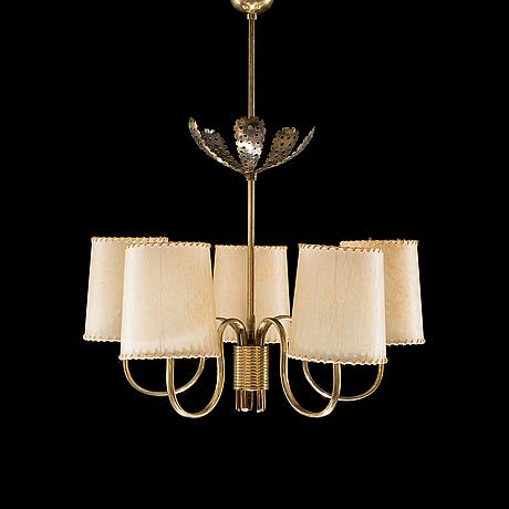 Paavo tynell, taklampa. tillverkad av idman, 1950 tal