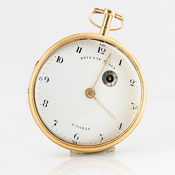 ETIENNE MELLY, Paris,  pocketwatch, spindle, 50 mm.