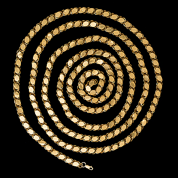 A NECKLACE, 14K gold.