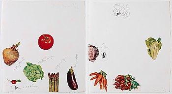 """8. Jim Dine, """"VegetablesV-VI""""."""