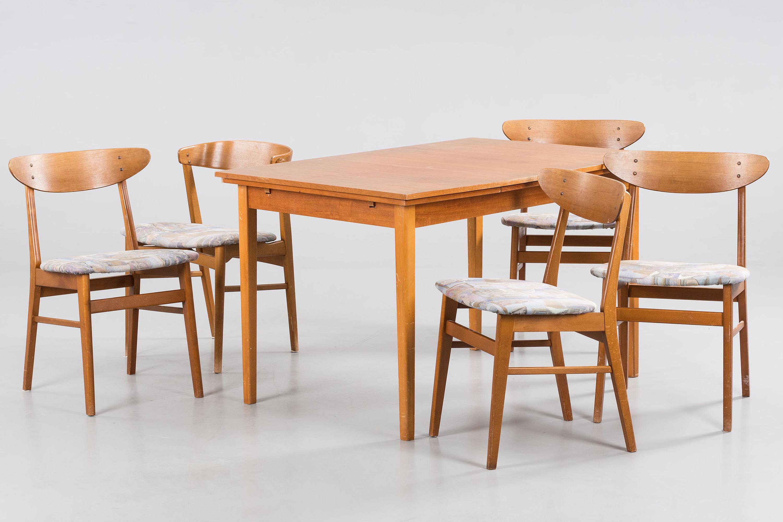 bord med stolar, 1+4+1 st, bl.a monaco, ikea. - bukowskis
